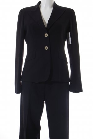 Max Mara Hosenanzug dunkelblau Business-Look