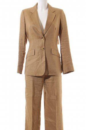 Max Mara Hosenanzug sandbraun Business-Look