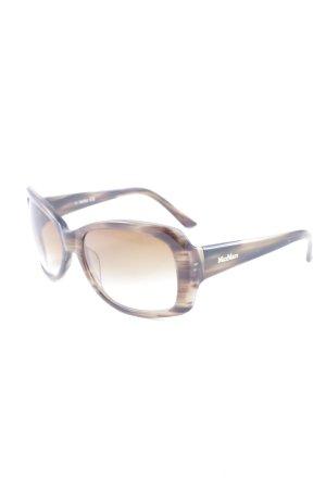 Max Mara Occhiale squadrato marrone-grigio-crema stile casual