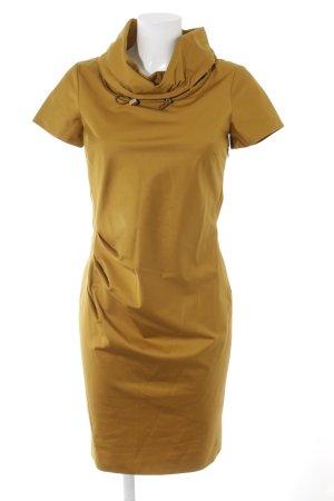 Max Mara Shortsleeve Dress sand brown weave pattern casual look