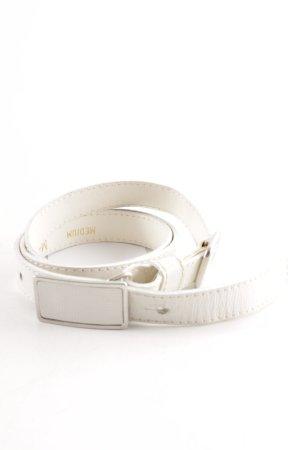Max Mara Cintura in ecopelle bianco stile casual