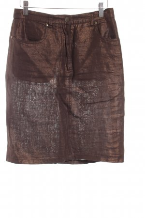Max Mara Leinenrock bronzefarben Casual-Look