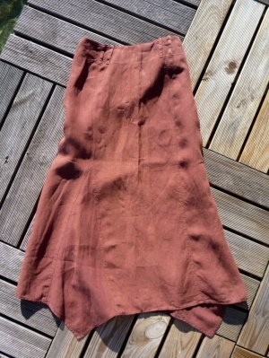 Weekend Max Mara Maxi gonna marrone-cognac Lino