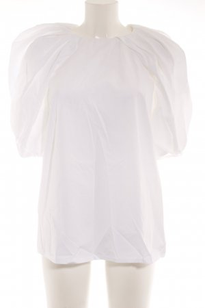 Max Mara Long-Bluse weiß Elegant