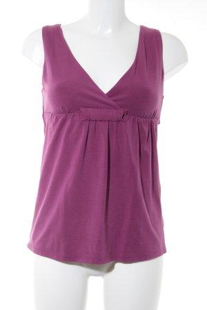 Max Mara Longtop violett Street-Fashion-Look