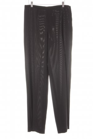 Max Mara Marlene Trousers black-white pinstripe business style