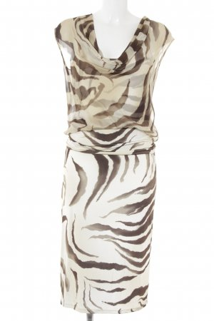 Max Mara Midikleid sandbraun-dunkelbraun Animalmuster Animal-Look