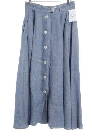 Max Mara Gonna midi blu fiordaliso puntinato stile jeans