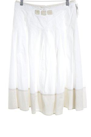 Max Mara Midirock weiß-beige Casual-Look