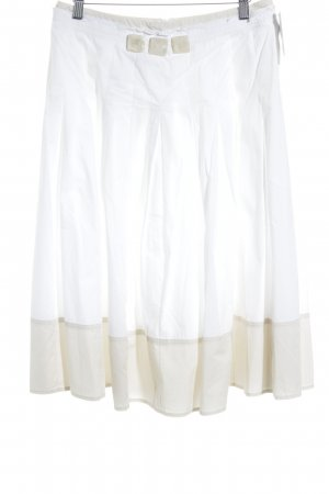 Max Mara Gonna midi bianco-beige stile casual