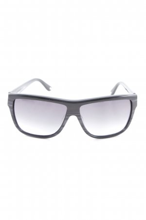 Max Mara Ovale zonnebril zwart-grijs elegant
