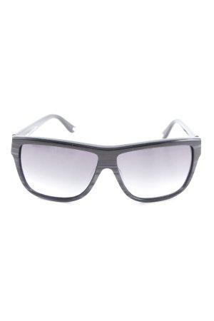 Max Mara ovale Sonnenbrille schwarz-grau Elegant