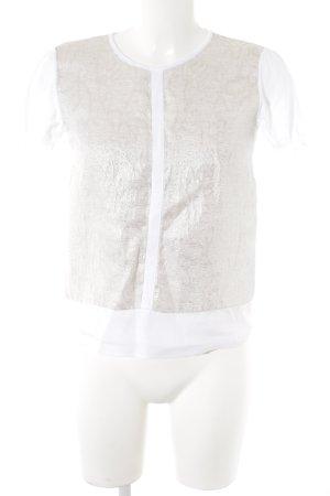 Max Mara Shirt met print wit-goud bloemen patroon casual uitstraling