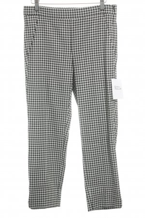 Max Mara Drainpipe Trousers black-white houndstooth pattern business style