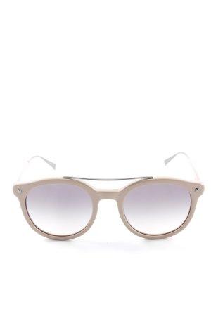 Max Mara runde Sonnenbrille hellbraun Casual-Look