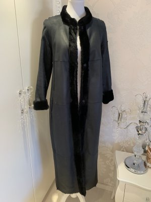 Max Mara Pelt Coat dark blue