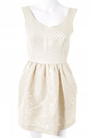 Max Mara schulterfreies Kleid creme-beige Elegant