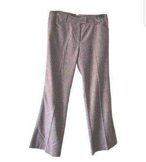 Max Mara Woolen Trousers grey lilac-bronze-colored