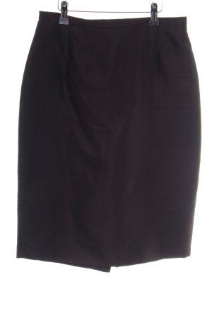 Max Mara Silk Skirt black business style