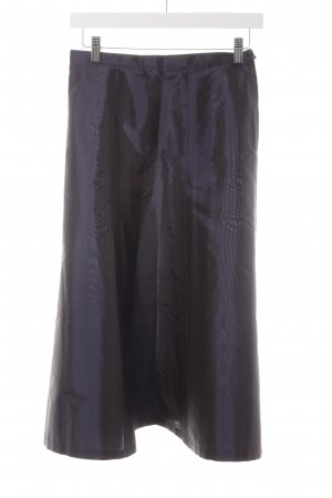 Max Mara Gonna in seta blu scuro elegante