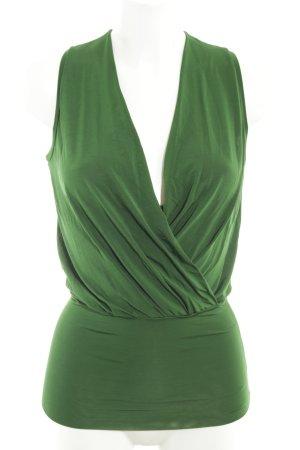 Max Mara Seidentop waldgrün klassischer Stil