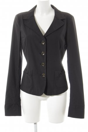 Max Mara Smoking-Blazer schwarz Nadelstreifen Business-Look