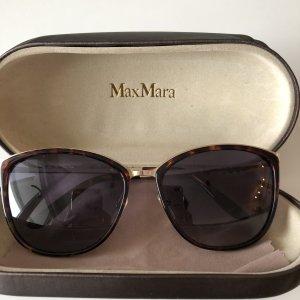 Max Mara Hoekige zonnebril donkerbruin-goud
