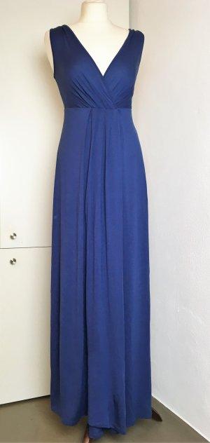* MAX MARA - SPORT MAX * MAXI KLEID blau VISKOSE weich fallend Abendkleid Sommer Kleid Gr S / 36 38 M S