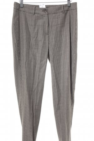 Max Mara Pantalone jersey nero-color cammello Stampa suggestiva Stile Brit