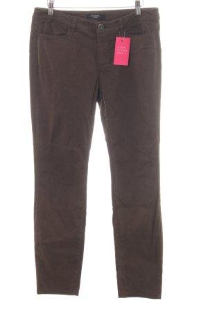 Max Mara Pantalone elasticizzato marrone-nero stile professionale