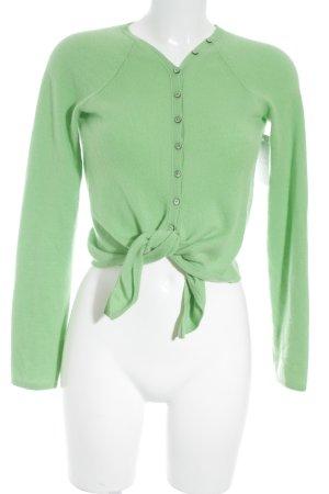Max Mara Cardigan in maglia verde prato-verde chiaro soffice