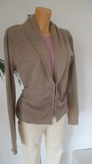 Max Mara Knitted Cardigan beige-gold-colored