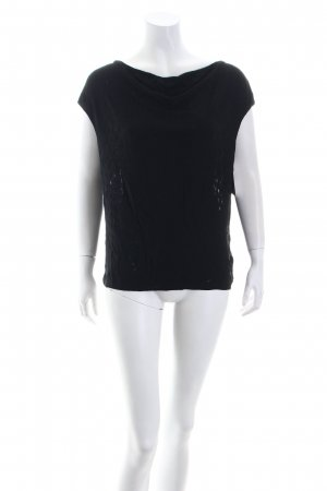 Max Mara Strickshirt schwarz extravaganter Stil