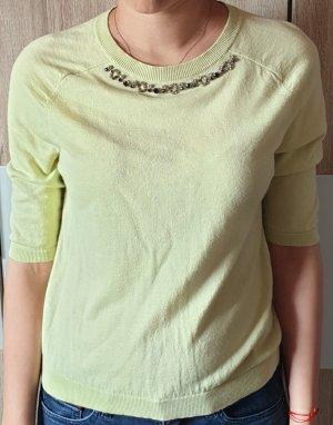Max Mara Top lavorato a maglia verde pallido