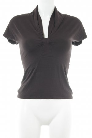 Max Mara T-Shirt braun Business-Look