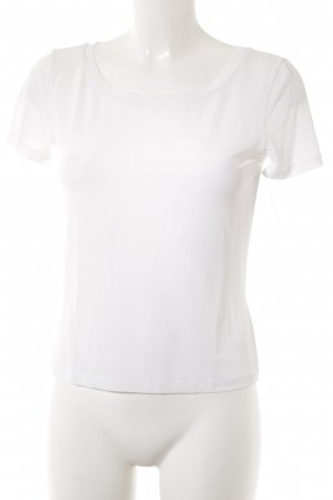 Max Mara T-Shirt weiß Transparenz-Optik