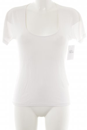 Max Mara T-Shirt wollweiß Casual-Look