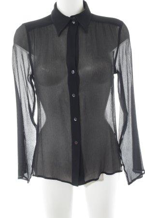 Max Mara Blusa trasparente nero stile casual