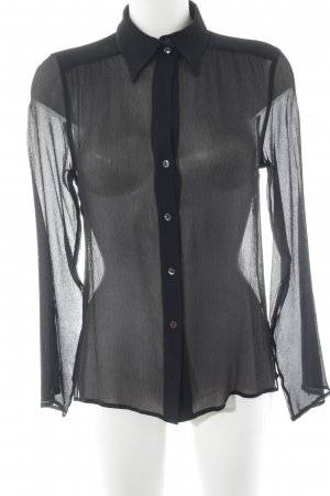 Max Mara Transparenz-Bluse schwarz Casual-Look