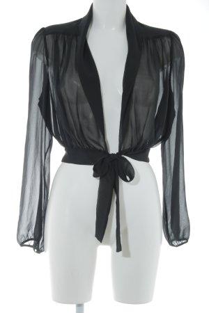 Max Mara Transparent Blouse black casual look
