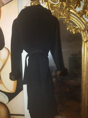 'S MaxMara Oversized Coat black wool