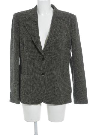 Max Mara Blazer in lana nero-marrone chiaro puntinato stile professionale
