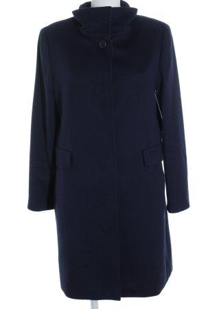 Max Mara Cappotto in lana blu scuro stile classico