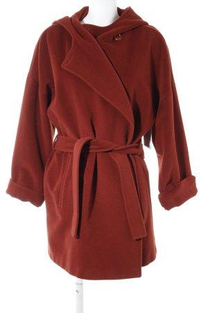 Max Mara Cappotto in lana ruggine stile casual
