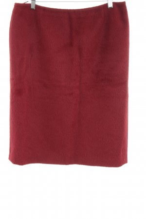 Max Mara Wool Skirt red casual look