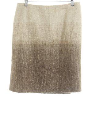 Max Mara Wollrock beige-hellbraun Farbverlauf Elegant