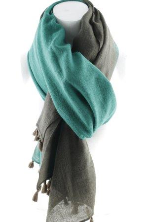 Max Mara Sciarpa di lana marrone scuro-petrolio Colore sfumato stile semplice