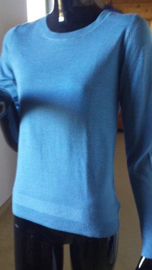 Maglione di lana blu fiordaliso Lana