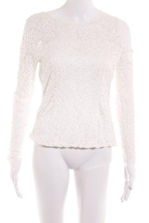 Max Volmáry Crochet Shirt white elegant