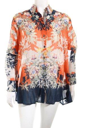 Max Volmáry Langarm-Bluse florales Muster Casual-Look